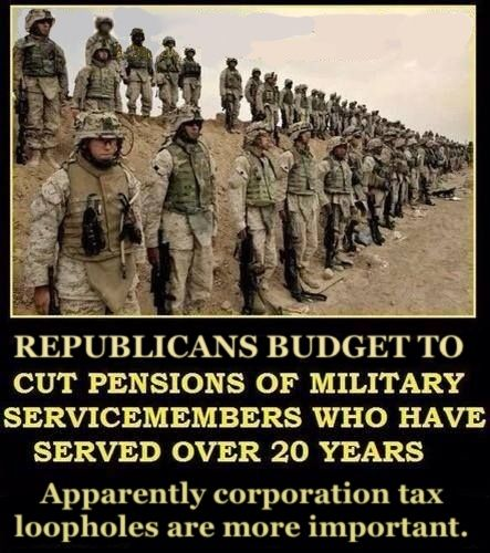 Bernie Sanders Veterans Benefits bill was defeated in March by a unanimous no vote from republicans as well. It seems republican love the soldier but hate the veteran.