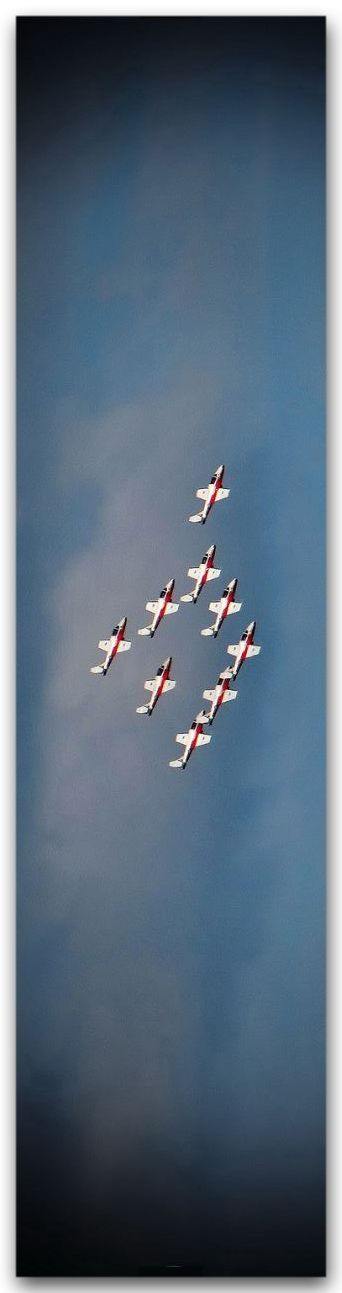 Royal Canadian Air Force SNOWBIRD acrobatic team in action.