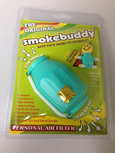 Smoke Buddy - Personal Air Filter/ Purifier Brand New - Teal Free Performance Technology Wrist Band