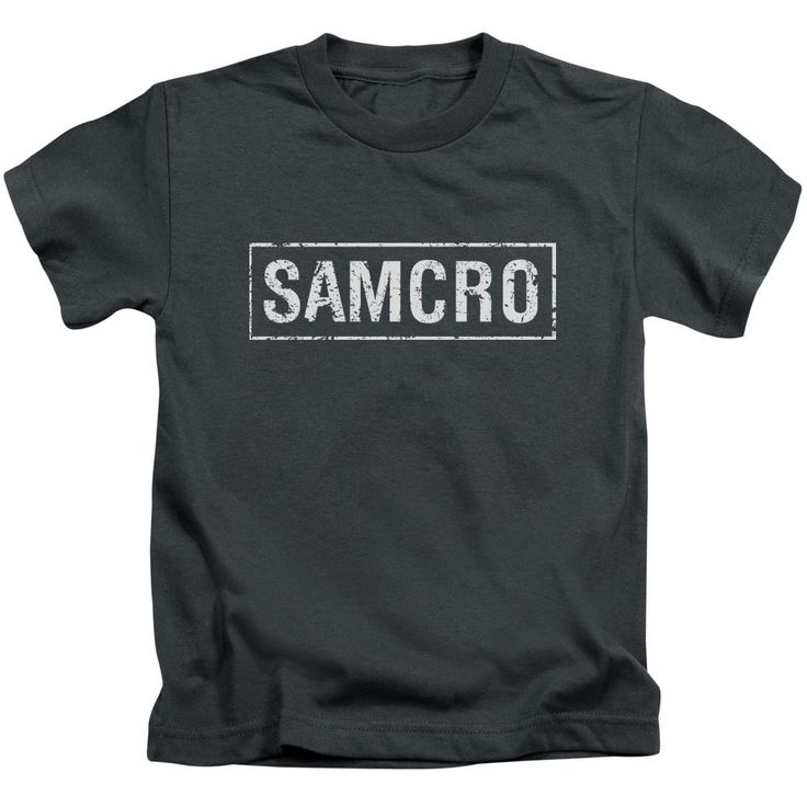 Sons Of Anarchy/Samcro Short Sleeve Juvenile T-Shirt in Charcoal