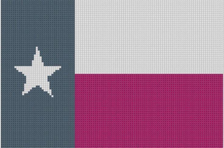 Texas Flag Cross Stitch Pattern
