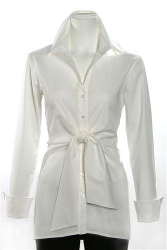 Finley Button Front Sylvia tunic White