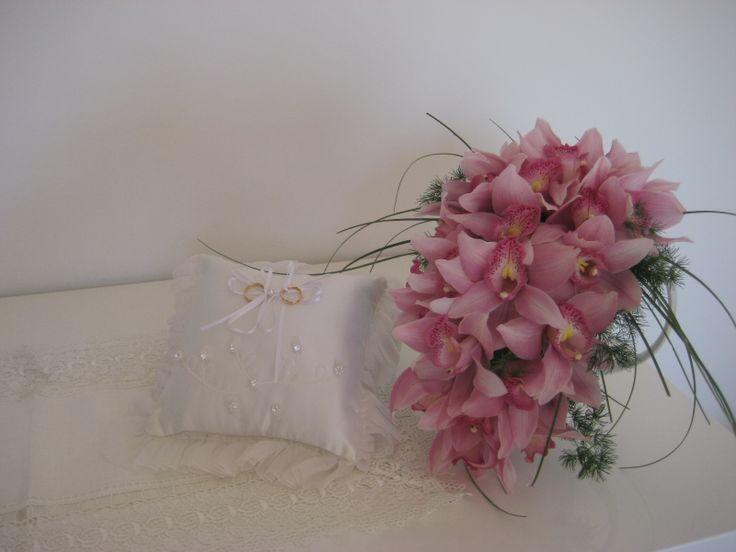 Wedding Bouquet with rosa Orchids  Brautstrauss mit rosa Orchideen Bouquet da sposa con rosa orchidee