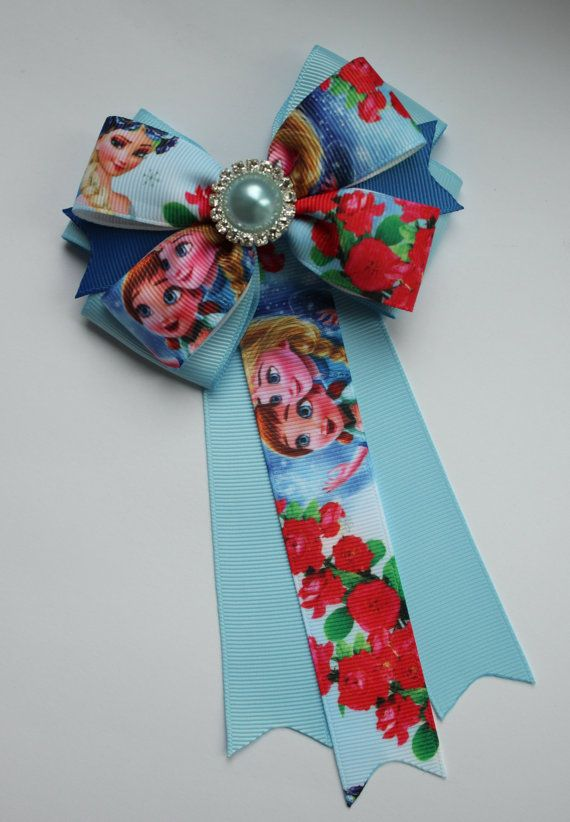 Frozen hair bow Frozen Elsa and Anna hair bow от Boutiqueofbeauty