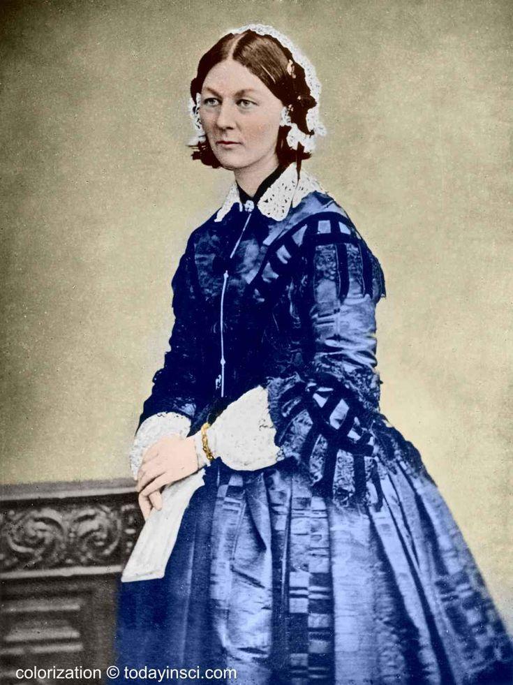 Florence Nightingale İngiliz hemşire. Modern hemşireliğin kurucusu..