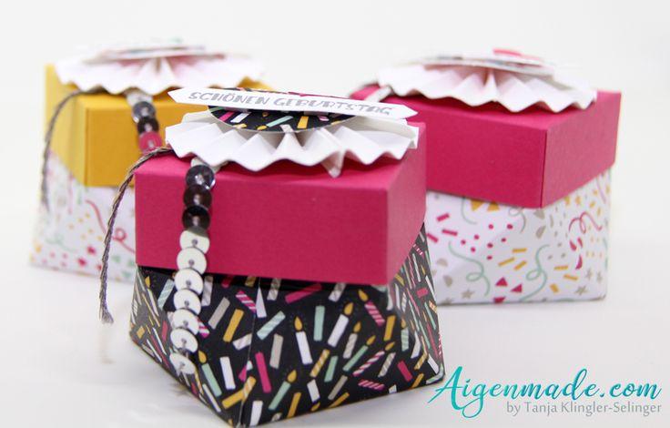Verpackung Diamantbox basteln & Stempeln mit StampinUP!