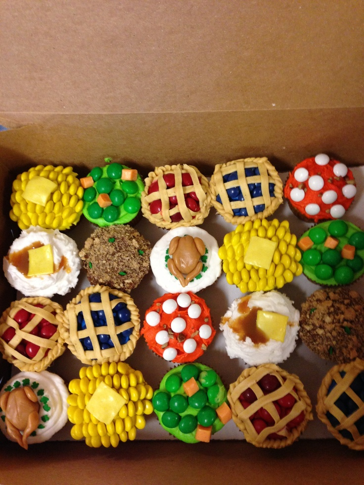 My Thanksgiving cupcakes for my kiddos at school!!  LOVE!!