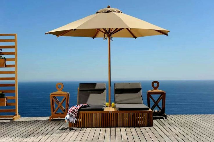 Double loungwrs by www.blocoutdoor.co.za