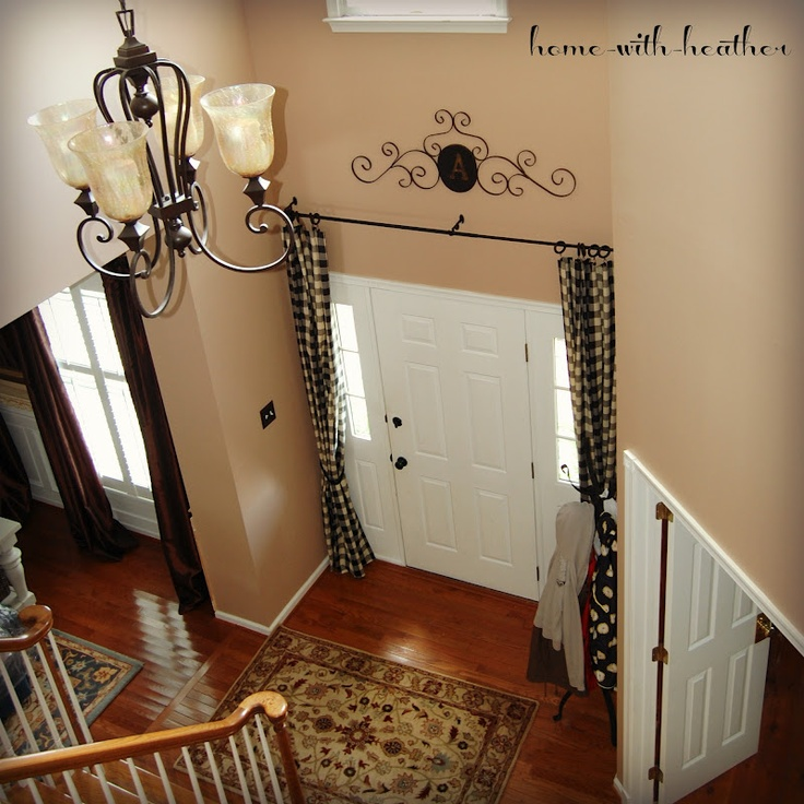 1000 images about frontdoor curtains on pinterest for Foyer curtain ideas