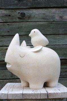 gérard collas -pierre-sculpture-rhinocéros