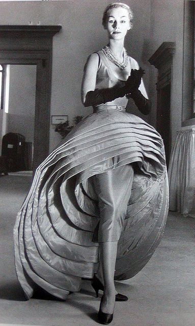 "Capucci's ""Nove Gonne"" in black & white, 1956"