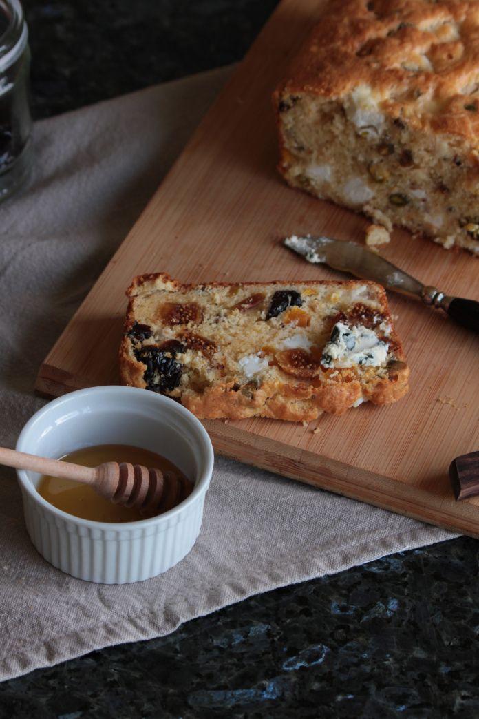 goat's cheese, pistachio & prune cake with smoked fig & apricot @ simplehayat.wordpress.com