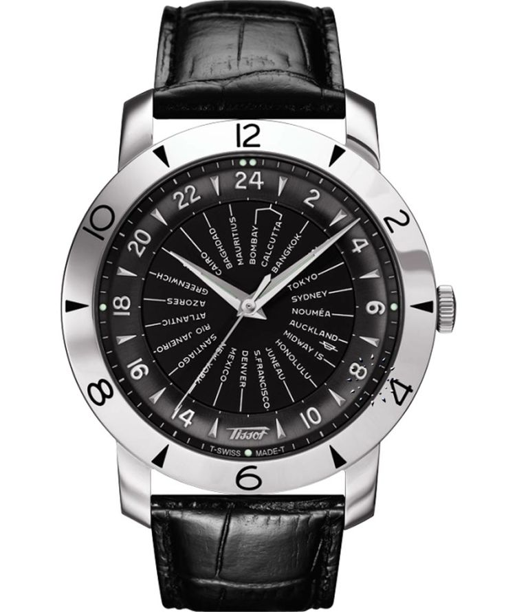 TISSOT Heritage Navigator Automatic Black Leather Strap Η τιμή μας: 1.155€ http://www.oroloi.gr/product_info.php?products_id=36398