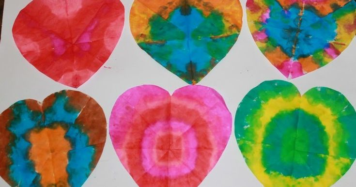 Pin It     After making our  Tie Dye Snowflakes   the Lil Divas had the fabulous idea to make...     Tie Dye Hearts       Aren't they gorg...