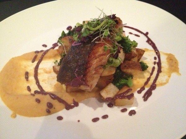 Black Cod (kalamata oil, broccoli, crispy potatoes, bean purée) at Ho-Ho-Kus Inn in Ho-Ho-Kus, NJ