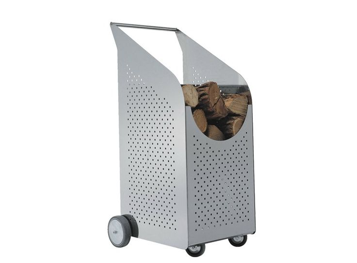 Stainless steel Log holder BABY WOW by Graepel High Tech by Graepel Italiana