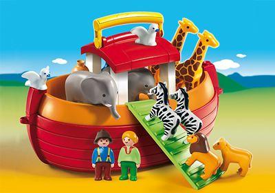 Arche de Noé transportable de Playmobil 1.2.3 Réf : 6765 moins cher en ligne. Age : 1 an 1/2  Comparez son prix chez 4 vendeurs en ligne .