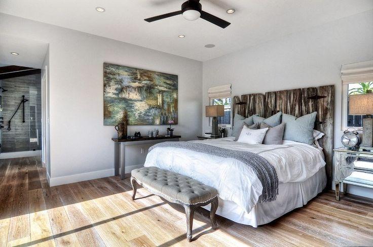 tête de lit moderne en tissu de style plage