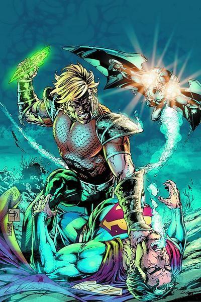 Aquaman vs Superman by Shane Davis