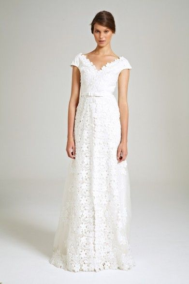 Collette Dinnigan Organza Embroidery Gown