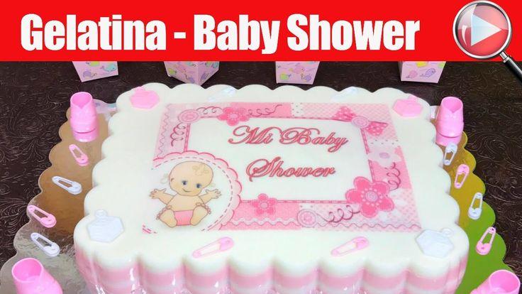 Gelatina con Transfer de Baby Shower para Niña | Casayfamiliatv  **  Casayfamiliatv.com