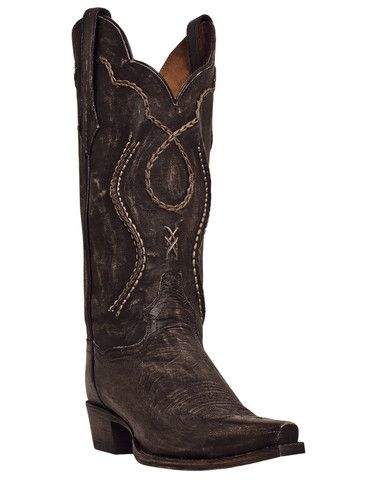 Dan Post Mens Chocolate Rustic Saddle Brand Leather Tyree Cowboy Boots #DP26680