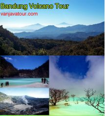 Bandung volcano tour 3D2N inclusive Vehicle/Car, Fuel/Petrol, Parking Fee, Driver Guide Fee, Driver Meal Fee, Pick Up & Drop off at Airport, Accommodation as your choice (2 Night Hotel Staying), Toll Roads Fee. Bandung volcano tour price starting from IDR 505.000