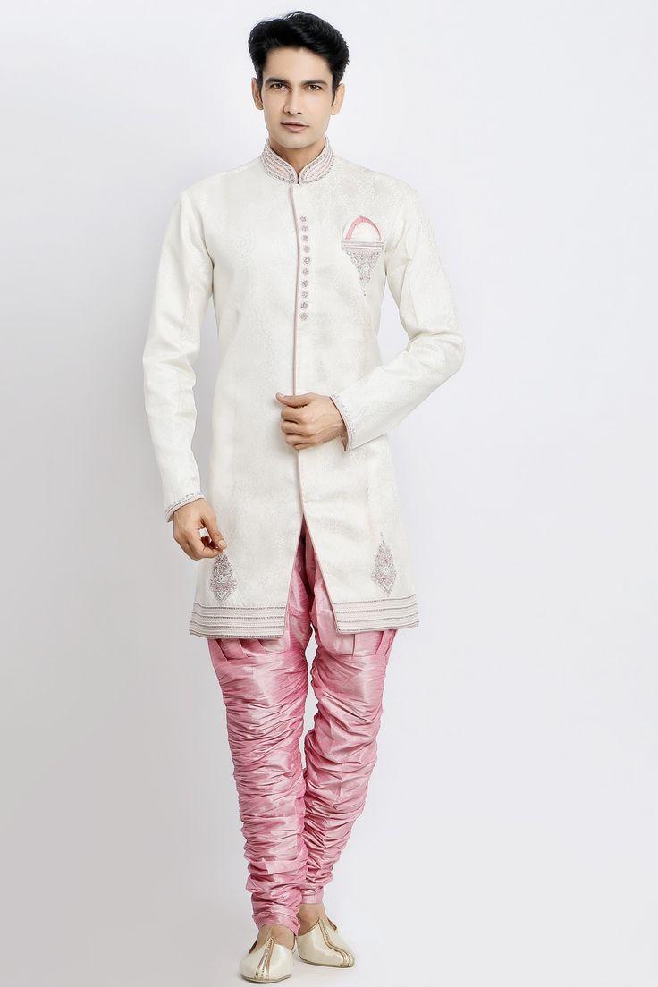 PINK SEMI-INDO-WESTERN STYLE KURTA SET Jaihind Retail | Men Online Shopping | Mens Clothing in Pune