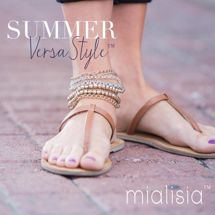 Summer Wrap! Necklace worn as an ankle bracelet! #Mialisia #VersaStyle