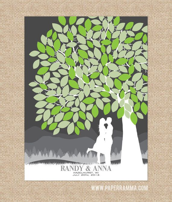 Wedding Poster Signature Tree GuestbookPersonalized by PaperRamma
