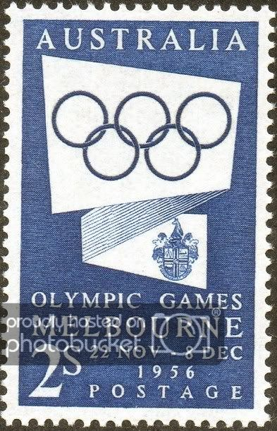 1956. Melbourne Olympic Games. Australian Pre-Decimal Stamps - Stamp Community Forum - Page 9   Stamp, Olympics, Postage stamps