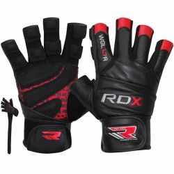 RDX Leather Bodybuilding Workout Gym Lifting Gloves
