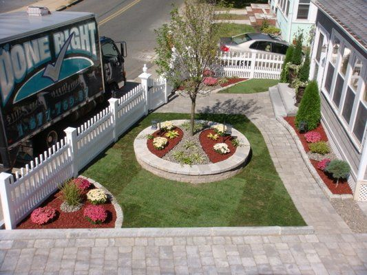 Walls, Walkways, Driveway, Cobblestone Borders, Sod Installation, Dogwood Tree and Plantings by Done Right landscape 781-858-... | Yelp