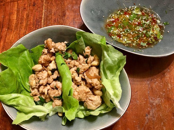 Thaise kip sla wraps 👌