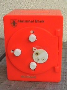 Vintage National Savings Bank Australasia Australia Combination Minibank Money Safe Box, Circa 1975 £20 #FollowVintage