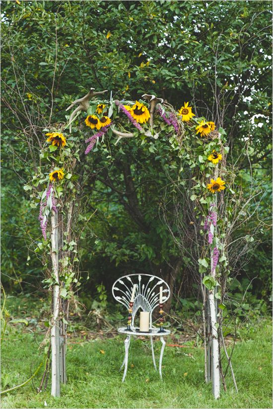 Purple And Yellow Summer Wedding Ideas Wedding Ceremony