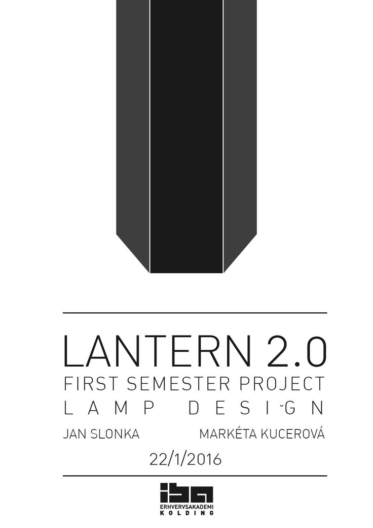 First semester project cover