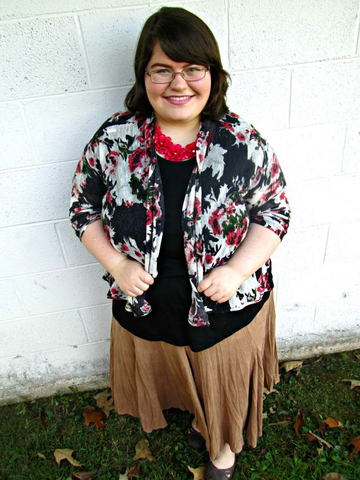 Unique Geek: Plus Size OOTD: Fall Florals #plussizefashionblogger #plussize #plussizeoutfit #plussizeootd #modestoutfit #modest #falloutfit #plussizefalloutfit: