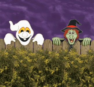 Halloween Fence Peekers Pattern