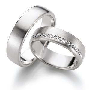 His Hers Mens Womens Matching White Gold Wedding Bands Rings Set Wide Sizes Free Engraving New By TallieJewelry On Etsy