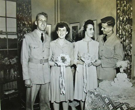 We know only that the bride was named Jean in this wartime wedding at RCAF Centralia, Ontario. For more: www.elinorflorence.com/blog/rcaf-women-photographer