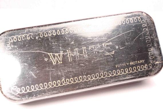 white sewing machine accessory