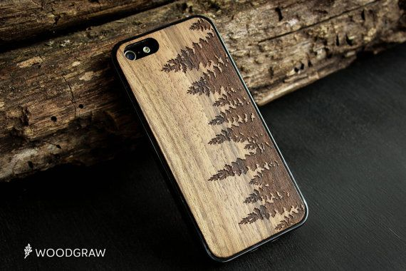 Forest Wood Case Nature iPhone 7, iPhone 6S, iPhone 6 Plus, iPhone 5s, iPhone 5C, iPhone 4 Wooden Gift Gadget Gifts For Men WOODGRAW
