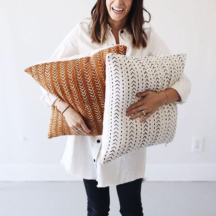 Mae Woven (@maewoven) • Mudcloth pillows