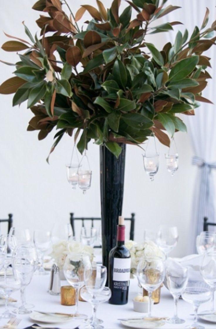 Best magnolia centerpiece ideas on pinterest