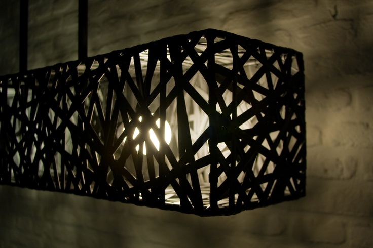 Lamp made of bicycle tubes