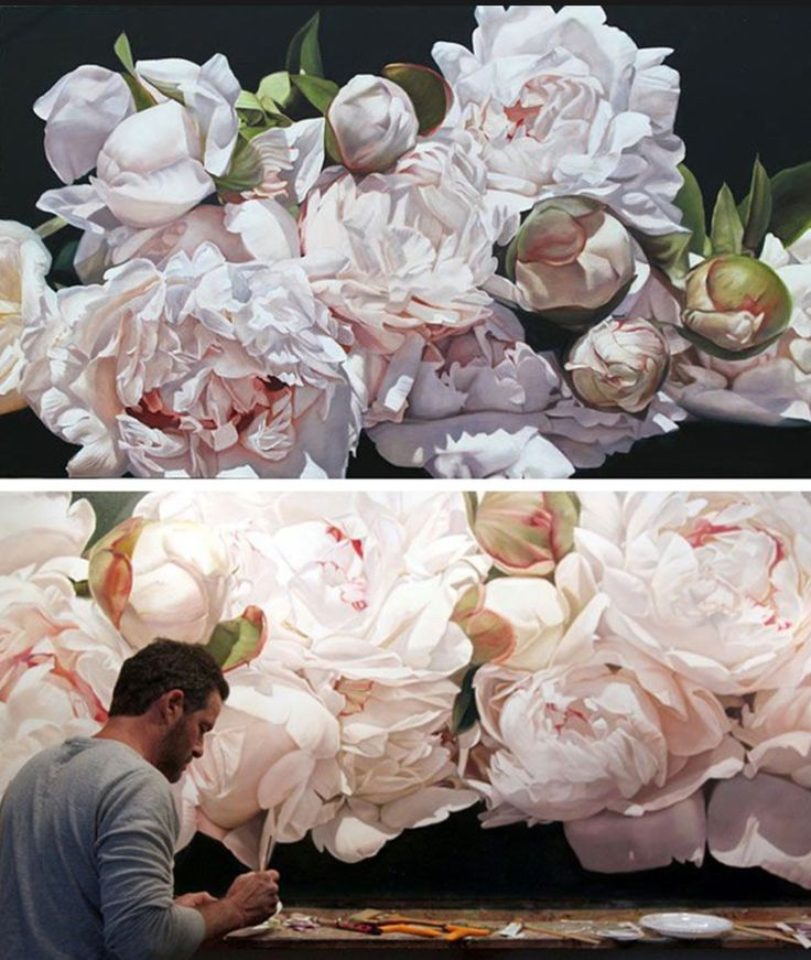 Thomas Darnell flower paintings