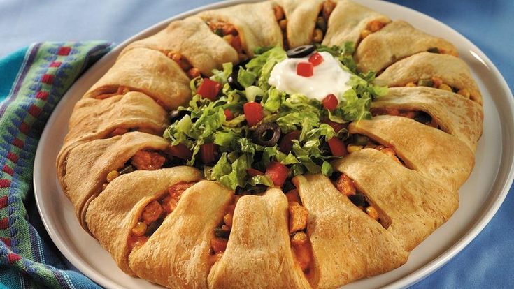 Cluck, cluck!  Chicken makes a grand entrance wrapped in crescents!