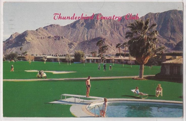 palm springs ca postcard thunderbird country club golfers