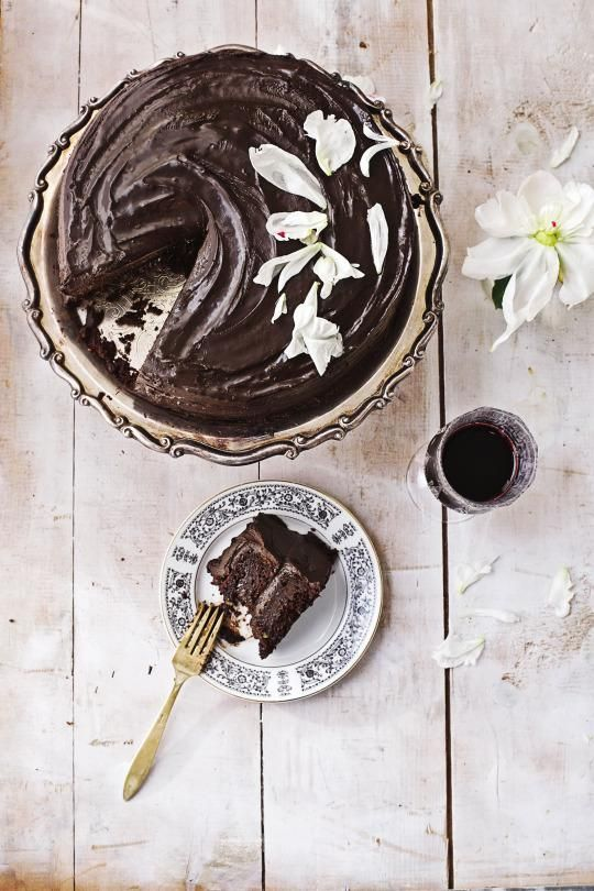 "This decadent, fudgy, and dense cake quickly became ""the favorite"" out of all my vegan baking recipes."
